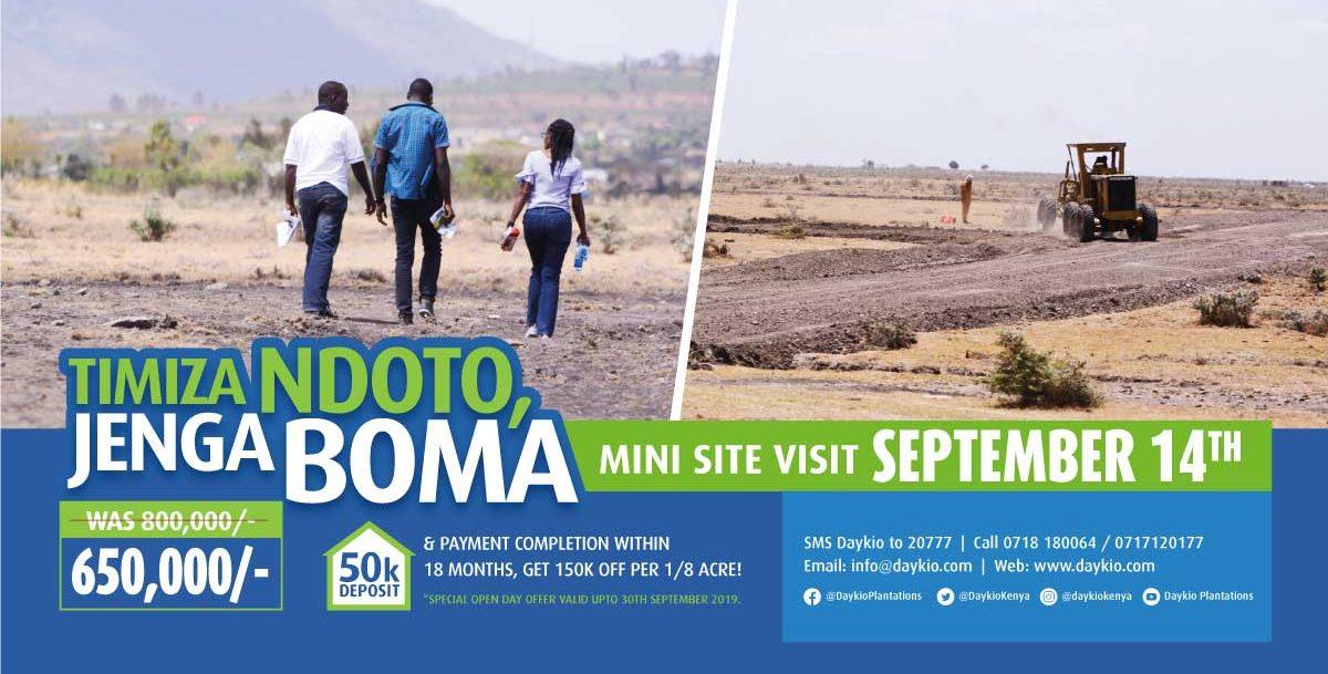 Jenga Boma at Daykio Koma View Estate